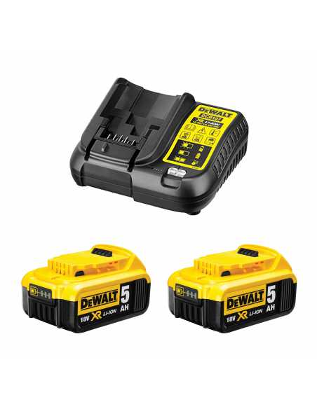 DeWALT Power Set (2 x 18V 5,0 Ah + DCB107)