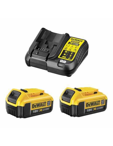 DeWALT Power Set (2 x 18V 4,0 Ah + DCB107)