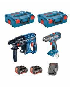 BOSCH Kit 18V - 0615990K3Z (GBH 18V-20 + GSR 18V-28 + 2 x 4,0 Ah + AL1820CV + 2 x L-Boxx 136)