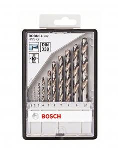 10 Piece Robust Line HSS-G 1 to 10mm BOSCH (2 607 010 535)